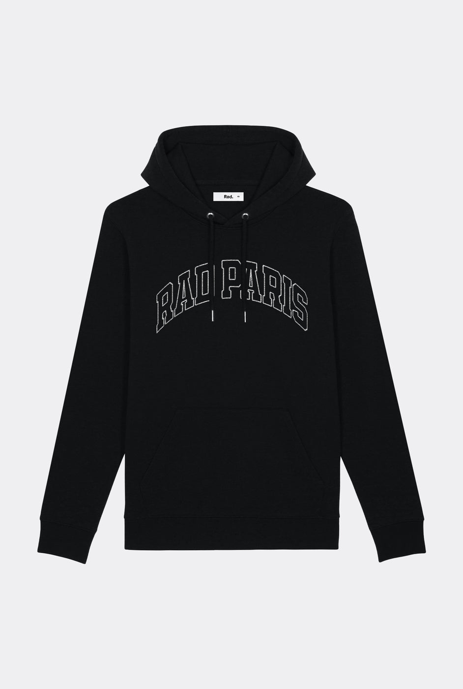 Hoodie Black Rad Paris - Embroidered