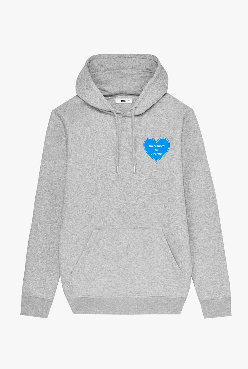 Hoodie Heather Grey Partners In Crime
