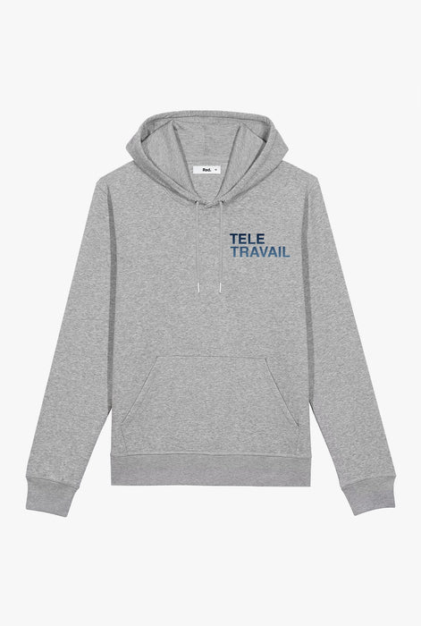 Hoodie Heather Grey Télétravail