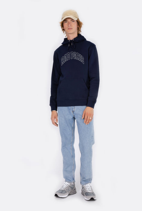 Hoodie Navy Rad Paris - Embroidered