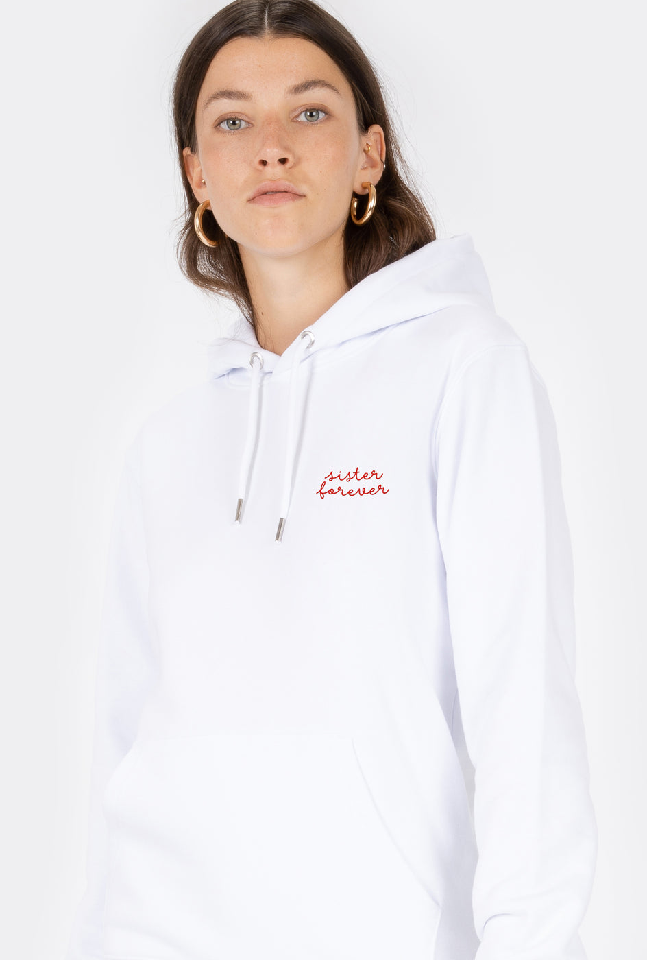 Hoodie Sister Forever - Embroidered