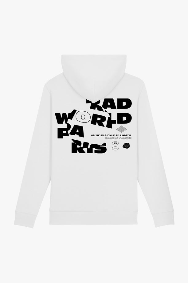 Hoodie White Magnifying