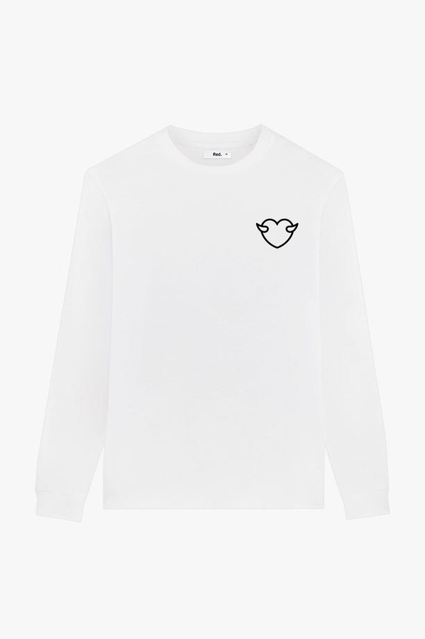 T-Shirt L/S White Anti Fuckboy Club
