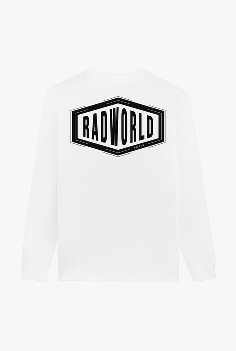 T-Shirt L/S White The look not the hype