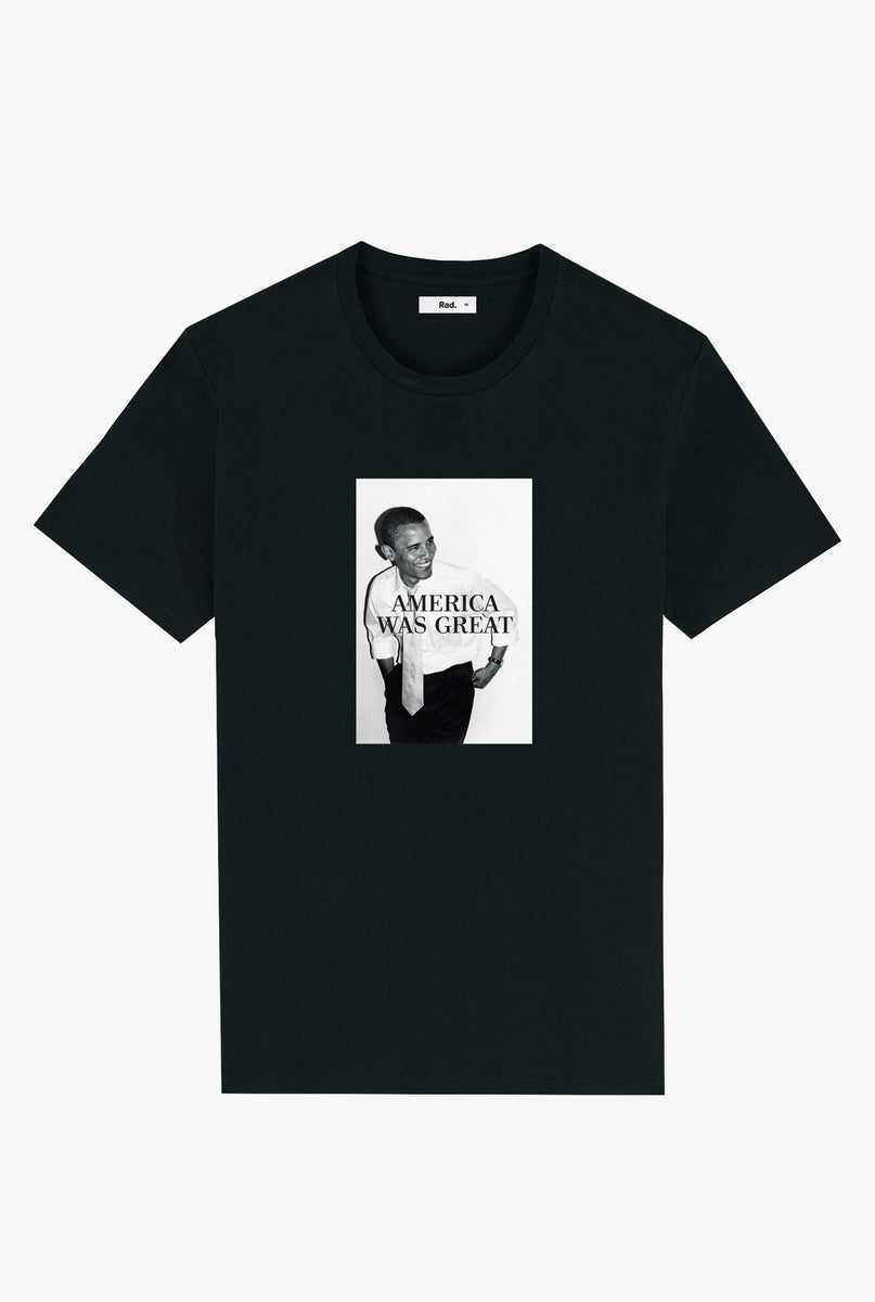T-Shirt S/S Black America Was Great