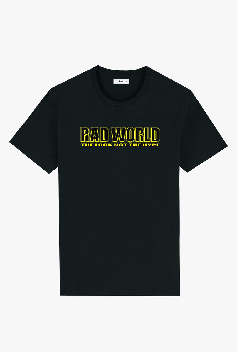 T-Shirt S/S Black Rad World