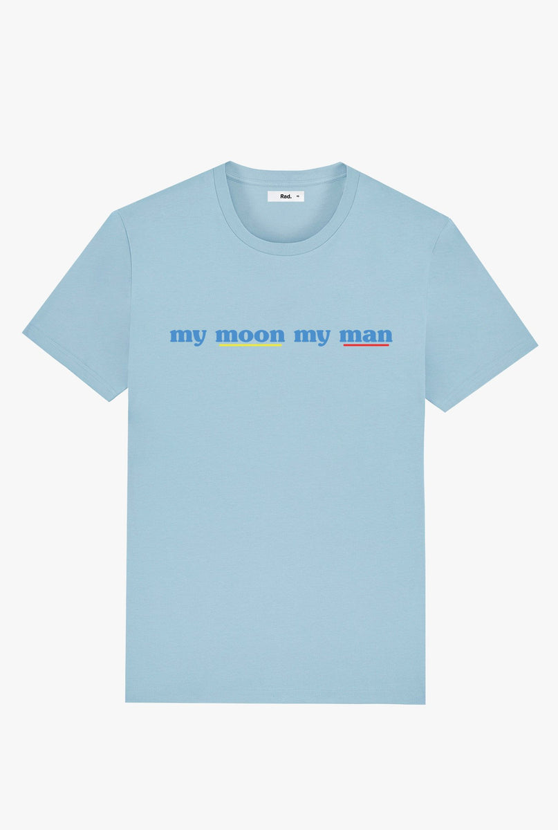 T-Shirt S/S Sky Blue My moon my man