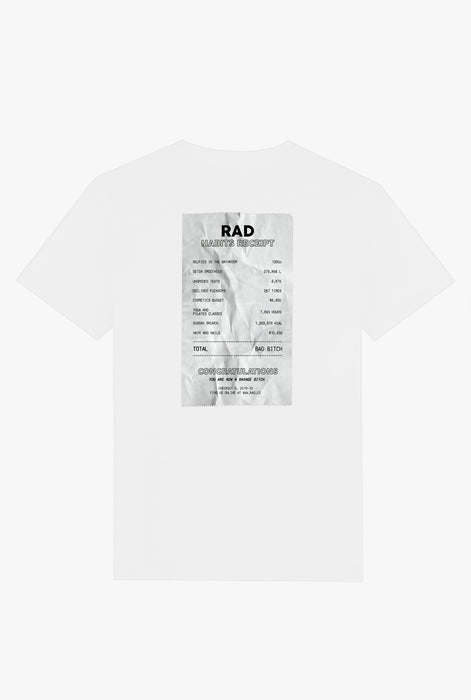 T-Shirt S/S White Life Receipt