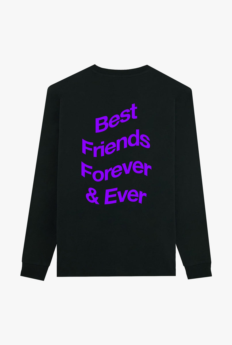 T-Shirt L/S Black Best Friends Forever