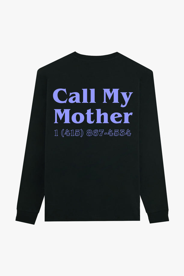 T-Shirt L/S Black Call My Mother