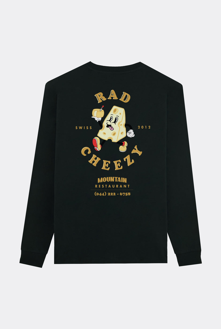 T-Shirt L/S Black Rad Mountain Restaurant