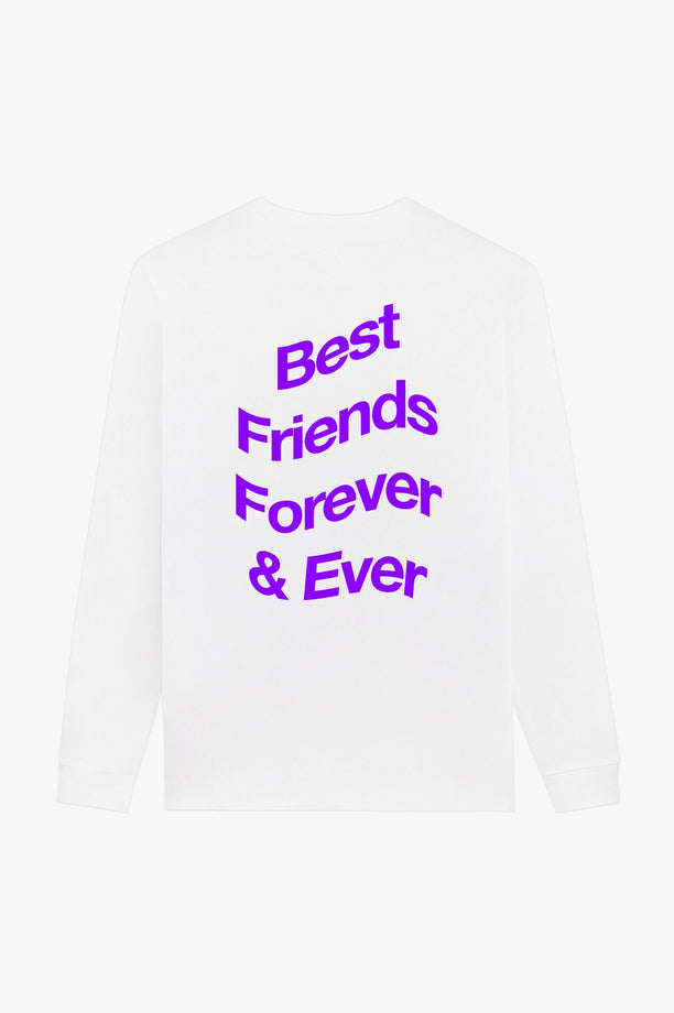 T-Shirt L/S White Best Friends Forever