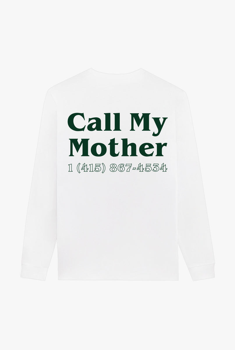 T-Shirt L/S White Call My Mother