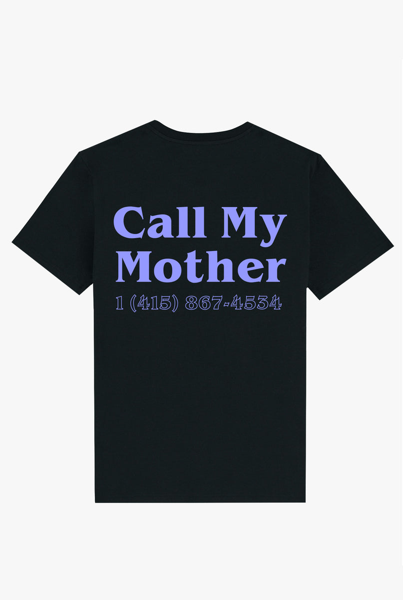 T-Shirt S/S Black Call My Mother