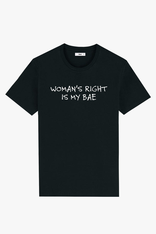 T-Shirt S/S Black Woman's Right