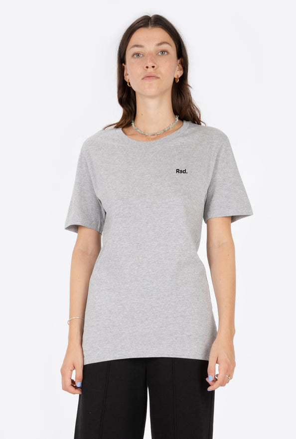 T-Shirt S/S Heather Grey Classic Rad - Embroidered
