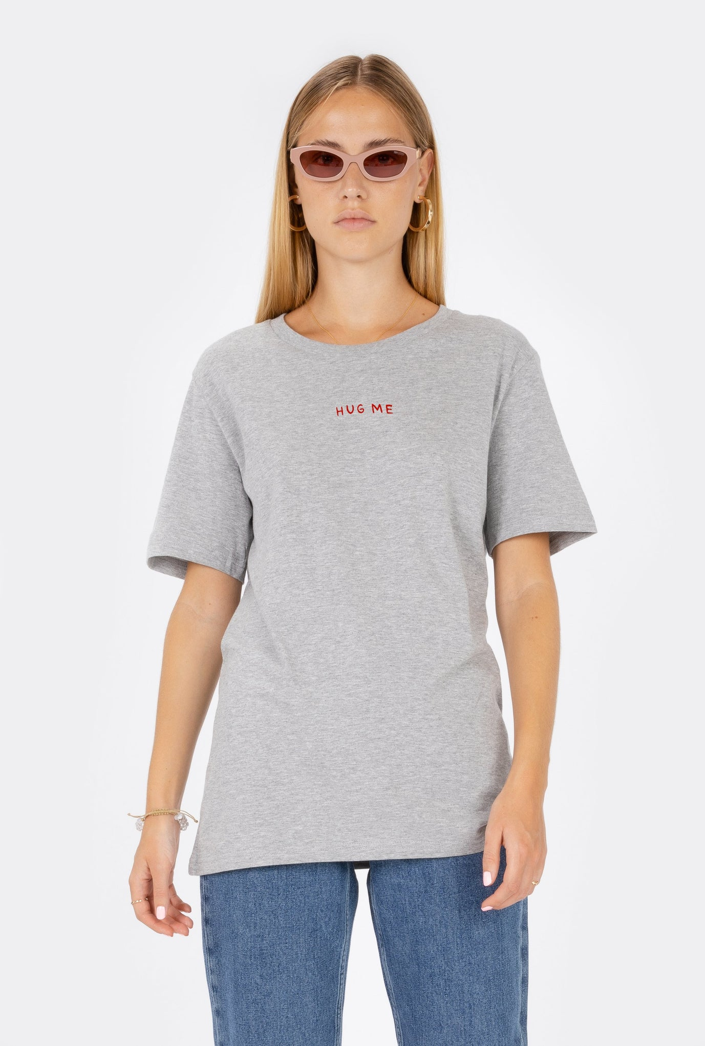 T-Shirt S/S Hug Me - Embroidered