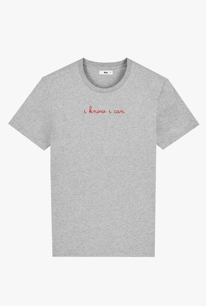 T-Shirt S/S Heather Grey I Know I Can