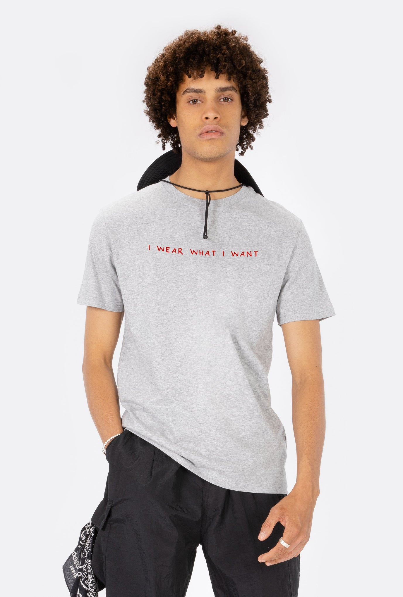 T-Shirt S/S I Wear What I Want - Embroidered