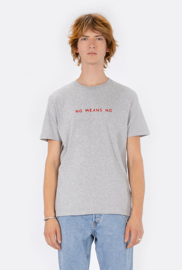 T-Shirt S/S No Means No - Embroidered