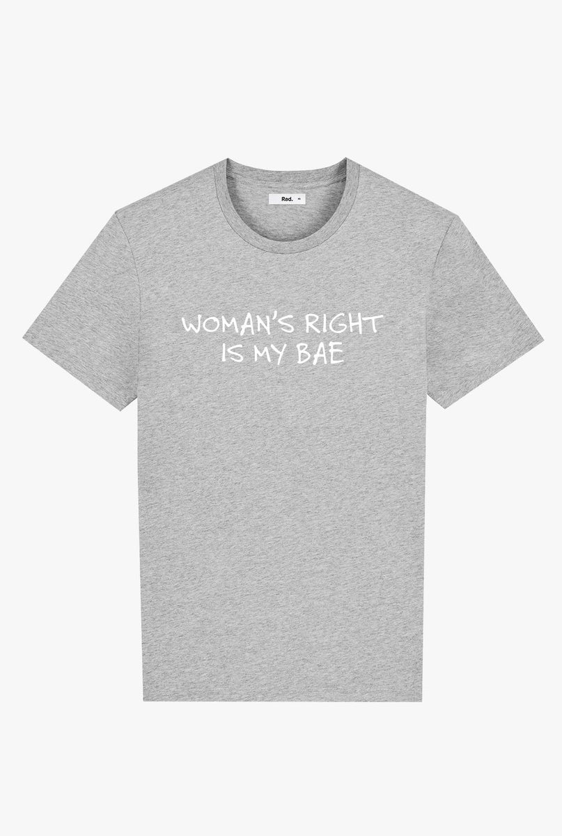 T-Shirt S/S Heather Grey Woman's Right