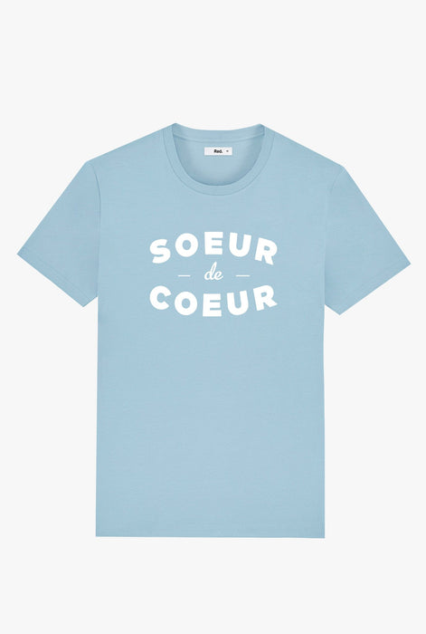 T-Shirt S/S Light Blue Sœur De Cœur