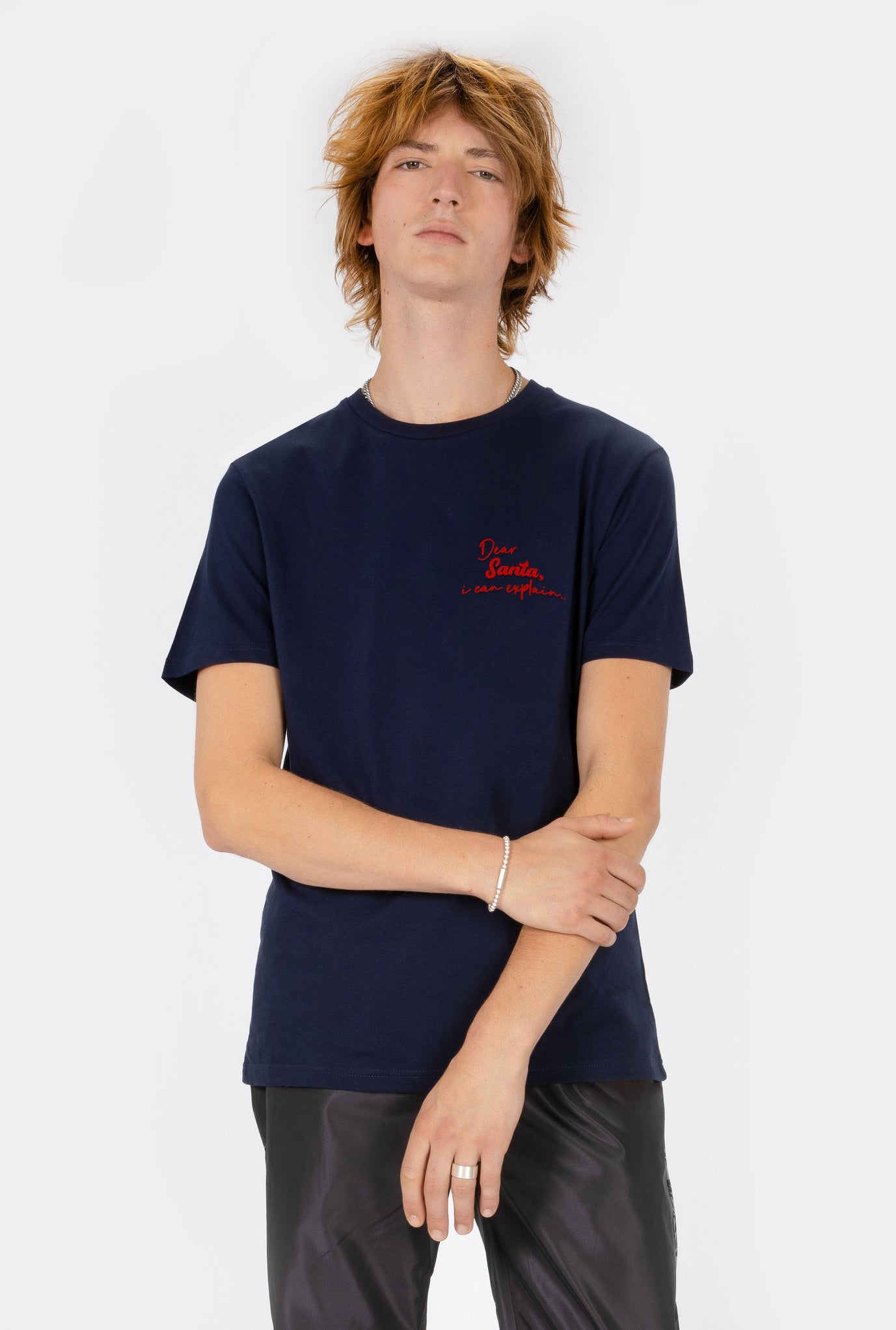 T-Shirt S/S Dear Santa - Embroidered