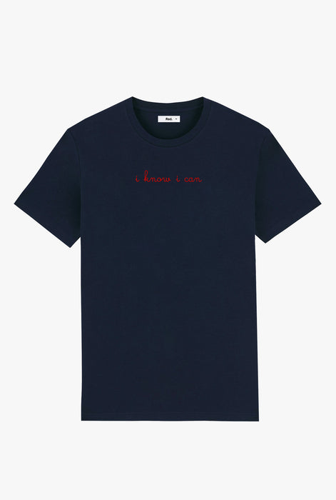 T-Shirt S/S Navy I Know I Can