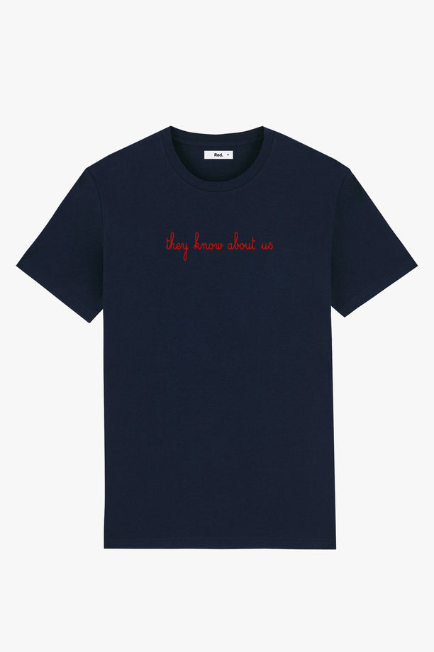 T-Shirt S/S Navy They Know About Us