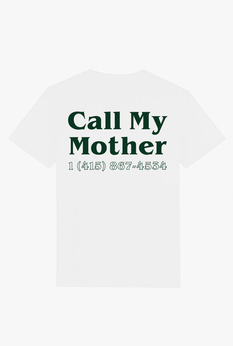 T-Shirt S/S White Call My Mother