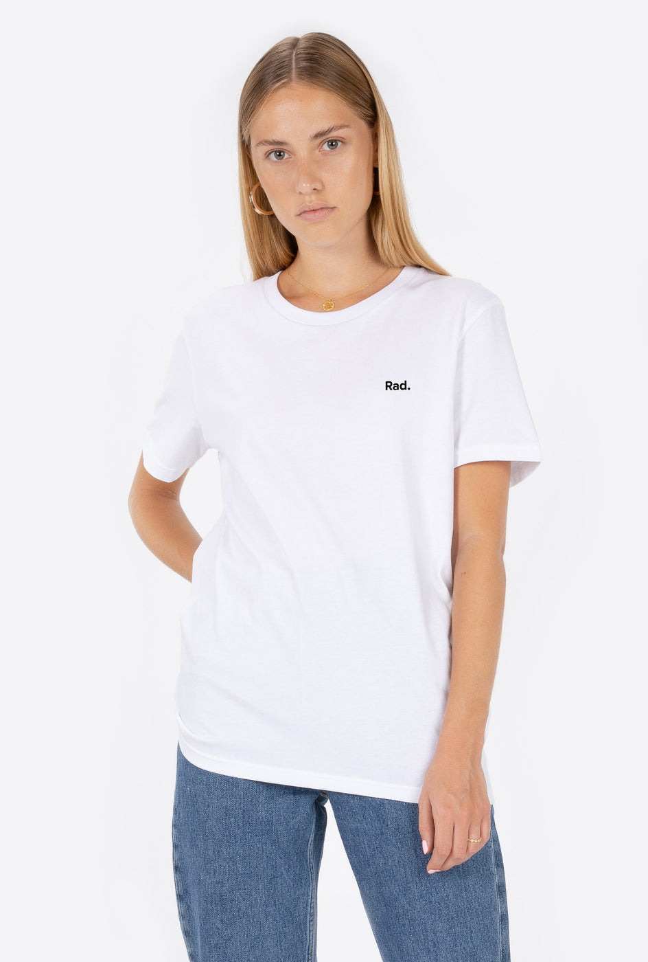 T-Shirt S/S White Classic Rad - Embroidered
