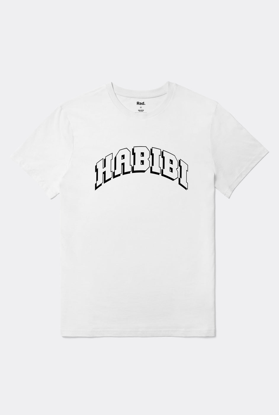 T-Shirt S/S White Graphic Habibi