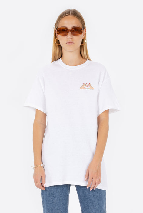 T-Shirt S/S White Hands of Love