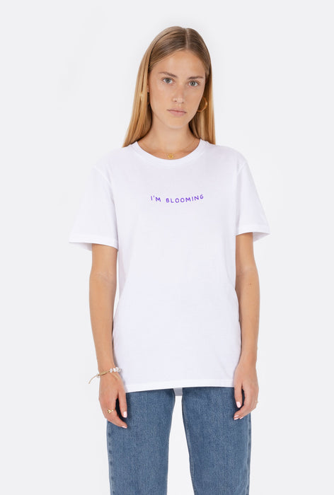 T-Shirt S/S I'm Blooming - Embroidered