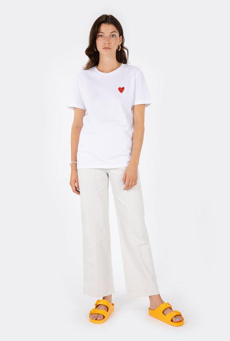 T-Shirt S/S Little Heart - Embroidered