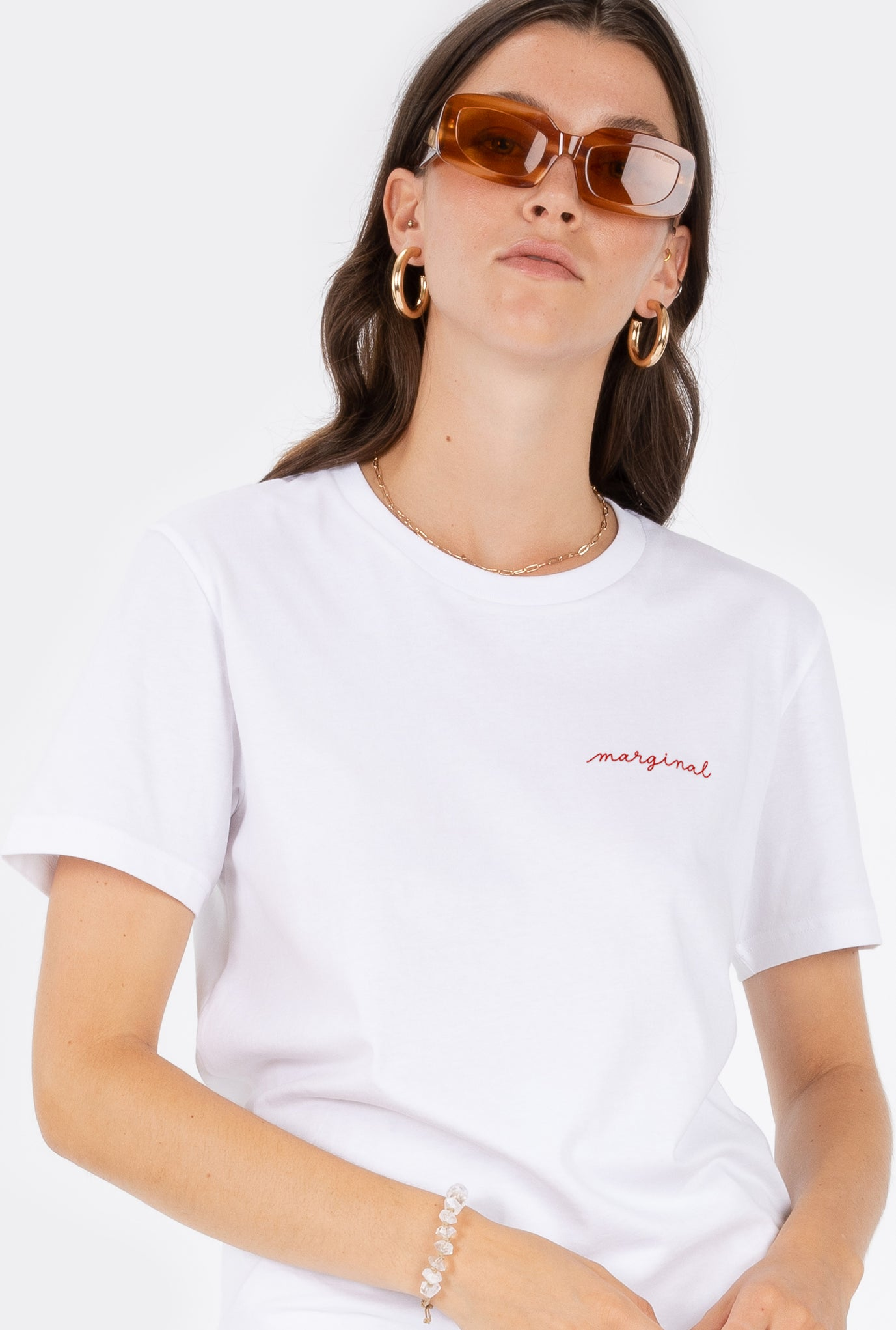 T-Shirt S/S Marginal - Embroidered