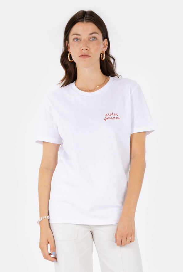 T-Shirt S/S Sister Forever - Embroidered