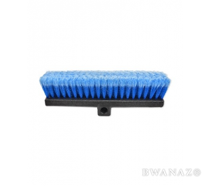 Car Wash Brush Head 13'' Flow-Thru Bi-Level Blue | CarWashCloth