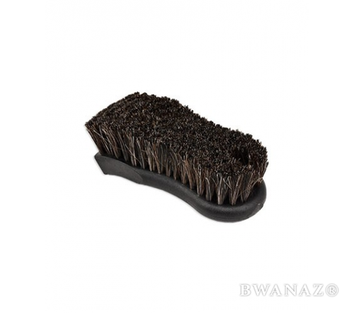 CarWashCloth 2.5″ x 6″ Black Horse Hair Brush with 1.25″ Dark Brown Bristles