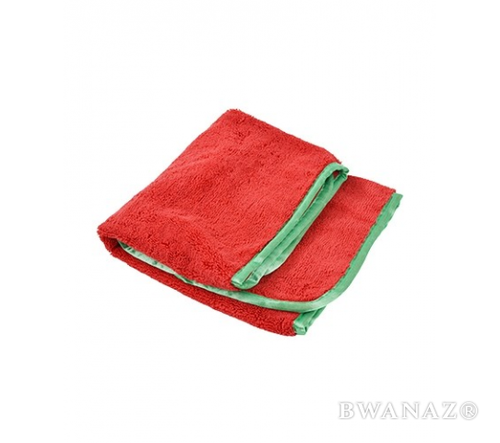 CarWashCloth 16″x24″ Microfiber Elite Towel 380 GSM Red/Green Trim