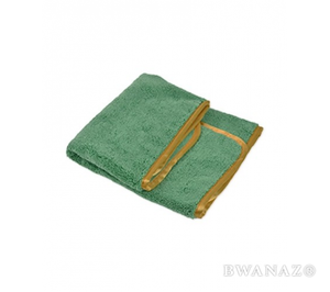 "Microfiber Elite Towel 16""x24"" 380GSM Green/Orange Trim 3 Pack