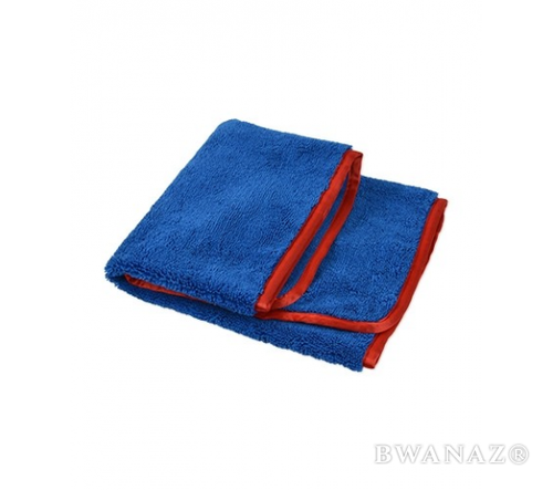 CarWashCloth 16 x24 Microfiber Elite Towel 380 GSM Blue/Red Trim