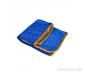 "Microfiber Elite Towel 16""x24"" Blue/Orange Trim 380 GSM 