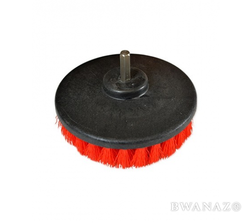 CarWashCloth 5'' Round Brush with Power Drill Attachment red | US Seller