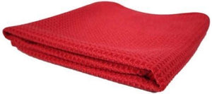 "Microfiber Waffle Weave Towel 16""x 24"" Blue Pack of 3 