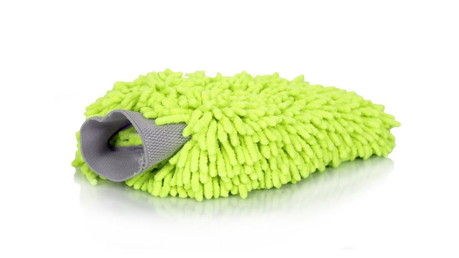 Microfiber Super THICK Wash Mitt Green | CarWashCloth