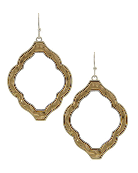 Window to the East (Gold Tone)- Earrings - Global Goddess Homewares