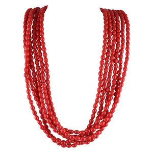 Agung Volcanic Fire - Red Necklace - Global Goddess Homewares