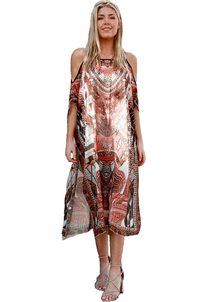 African Queen - Kaftan Dress - Global Goddess Homewares