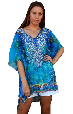 Arabian Night Sky - Kaftan Top - Global Goddess Homewares